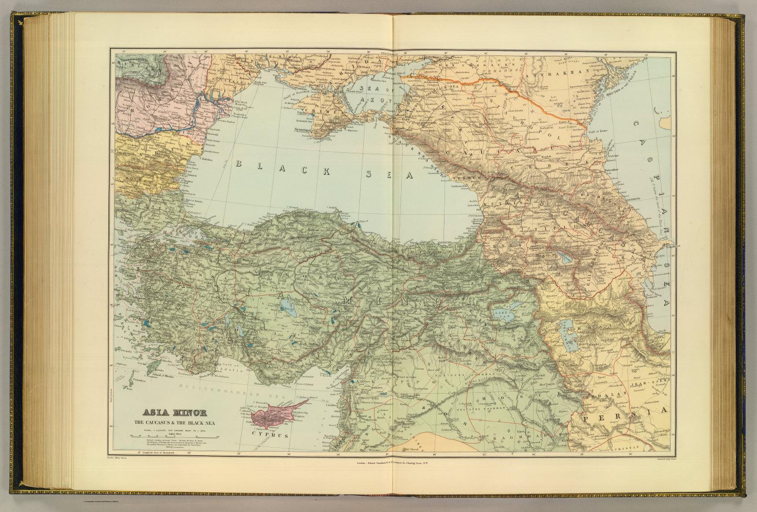 asia minor caucasus black sea david rumsey historical map collection
