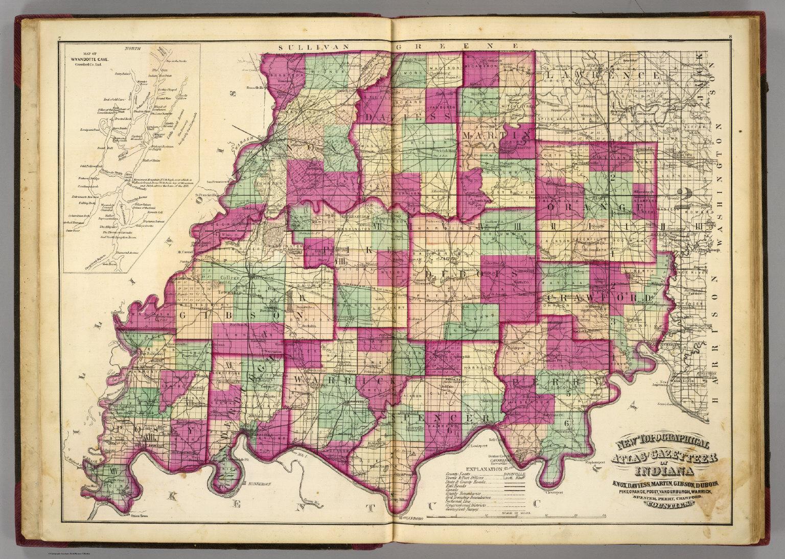 Knox County Indiana Map.Knox Daviess Martin Gibson Dubois Pike Orange Posey