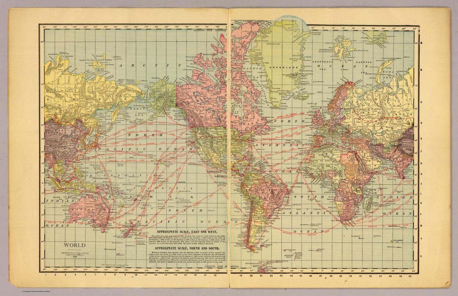 World Map 1913 | autobedrijfmaatje