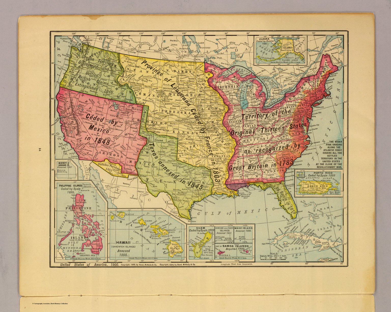 The Map Of America States.United States Of America 1900 David Rumsey Historical Map Collection