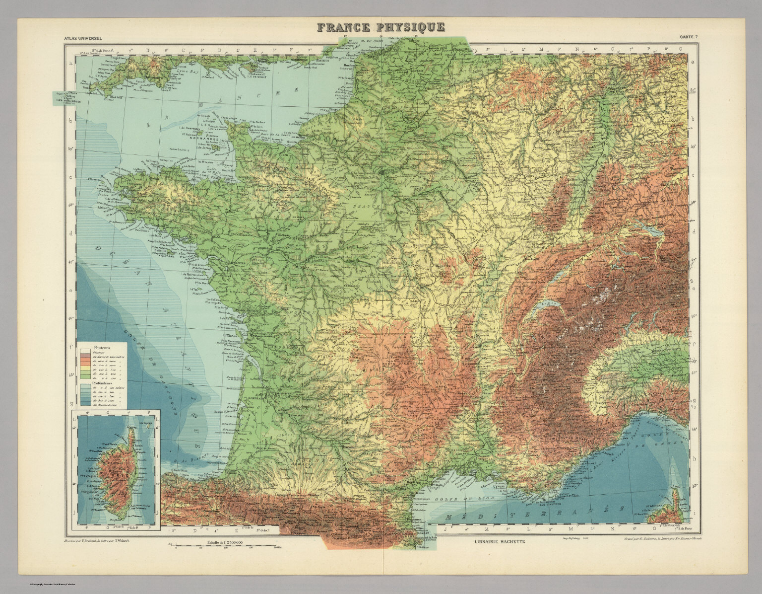 La France Map.France Physique David Rumsey Historical Map Collection