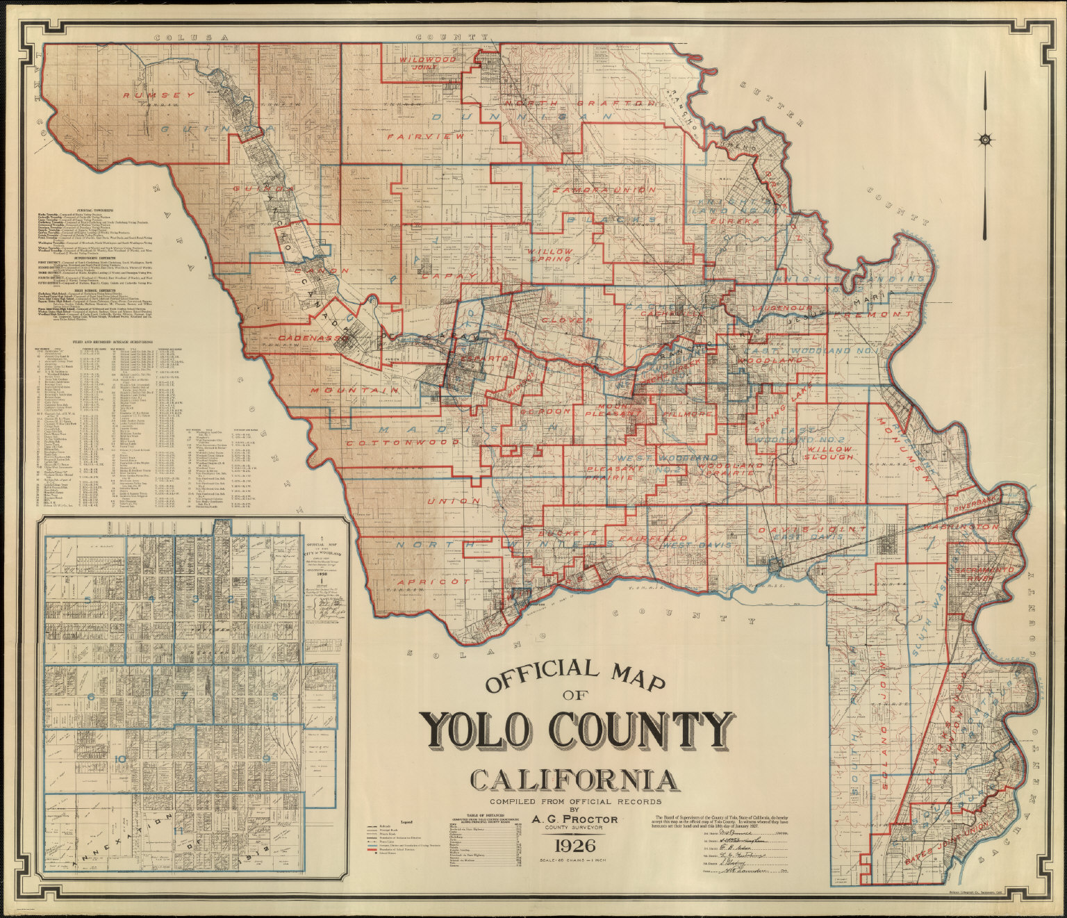 Official Map of Yolo County, California, 1926.   David Rumsey