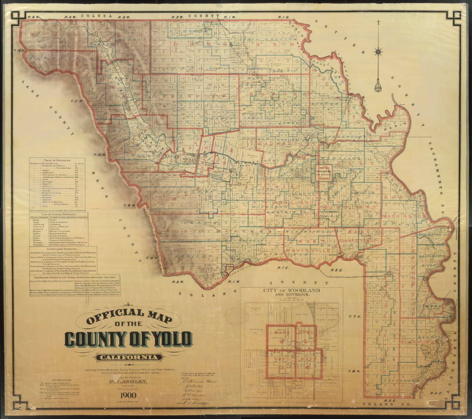 Picture of: Official Map Of Yolo County California 1900 David Rumsey Historical Map Collection