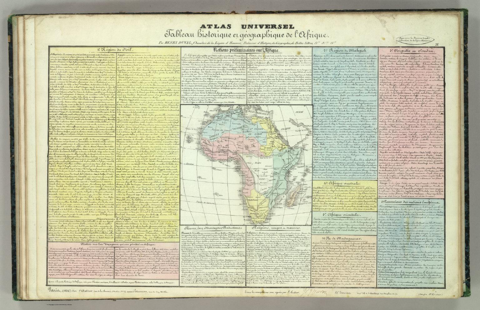 Tableau l'historie de 'Afrique.