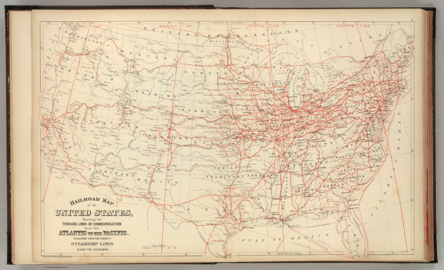 Railroad Map Of The Us.Railroad Map U S David Rumsey Historical Map Collection
