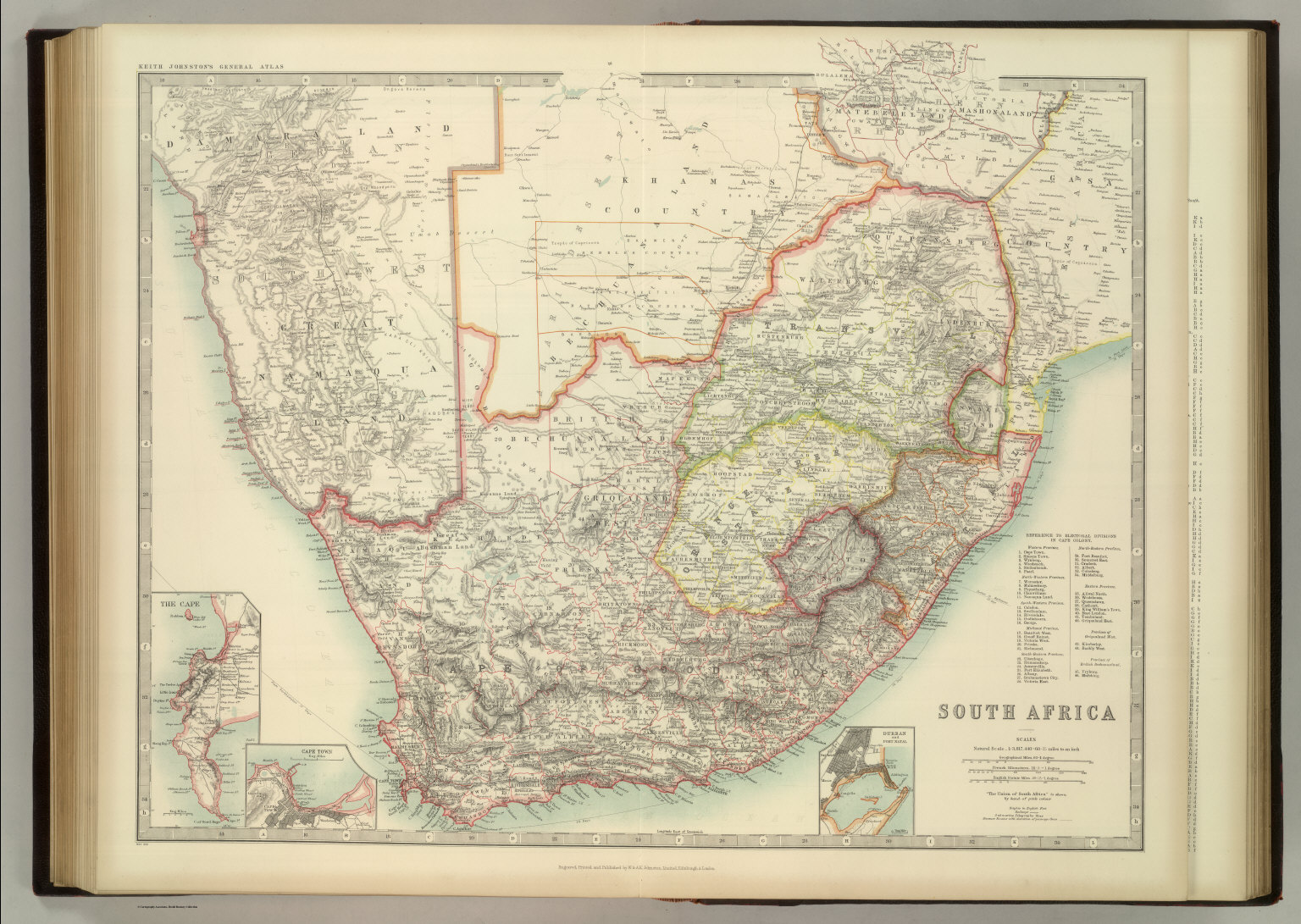South africa david rumsey historical map collection south africa gumiabroncs Gallery