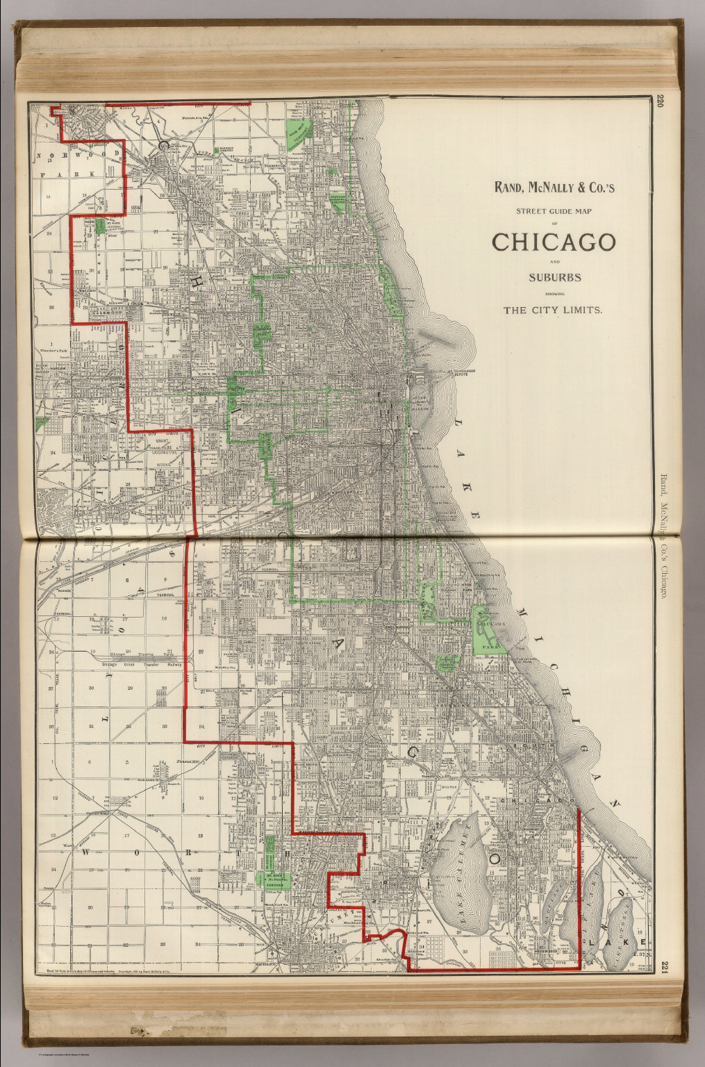 Chicago and Suburbs. - David Rumsey Historical Map Collection on