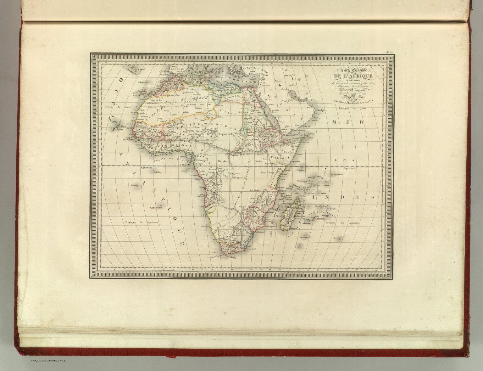 Carte De Lafrique Map.Carte Generale De L Afrique David Rumsey Historical Map