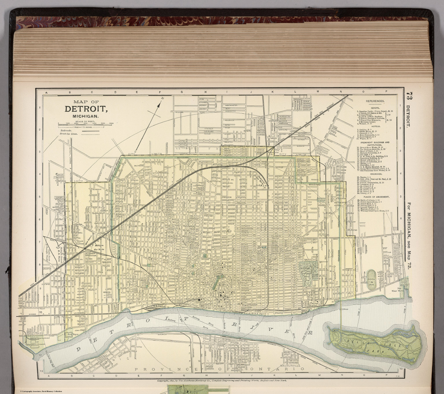 Map of Detroit, Michigan. 73