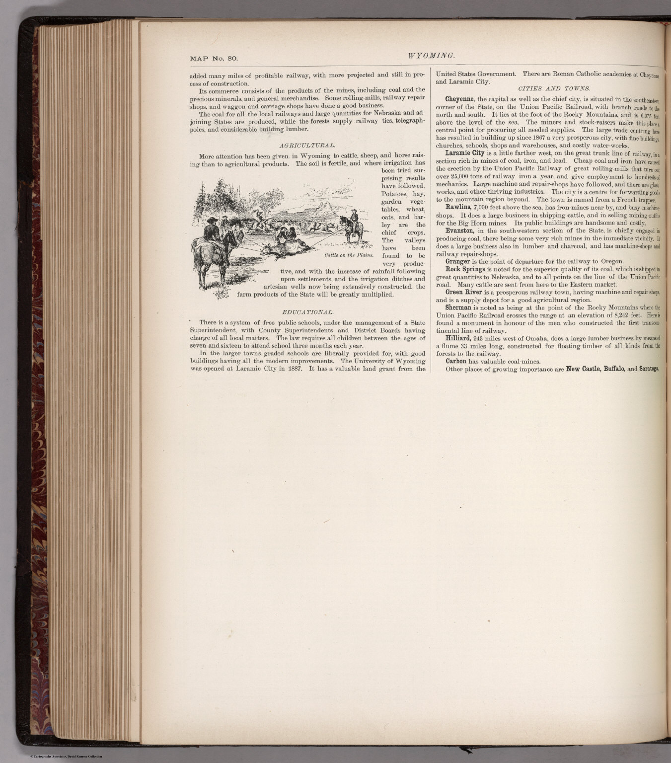 Text Page: (Continues) Wyoming. Map No. 80
