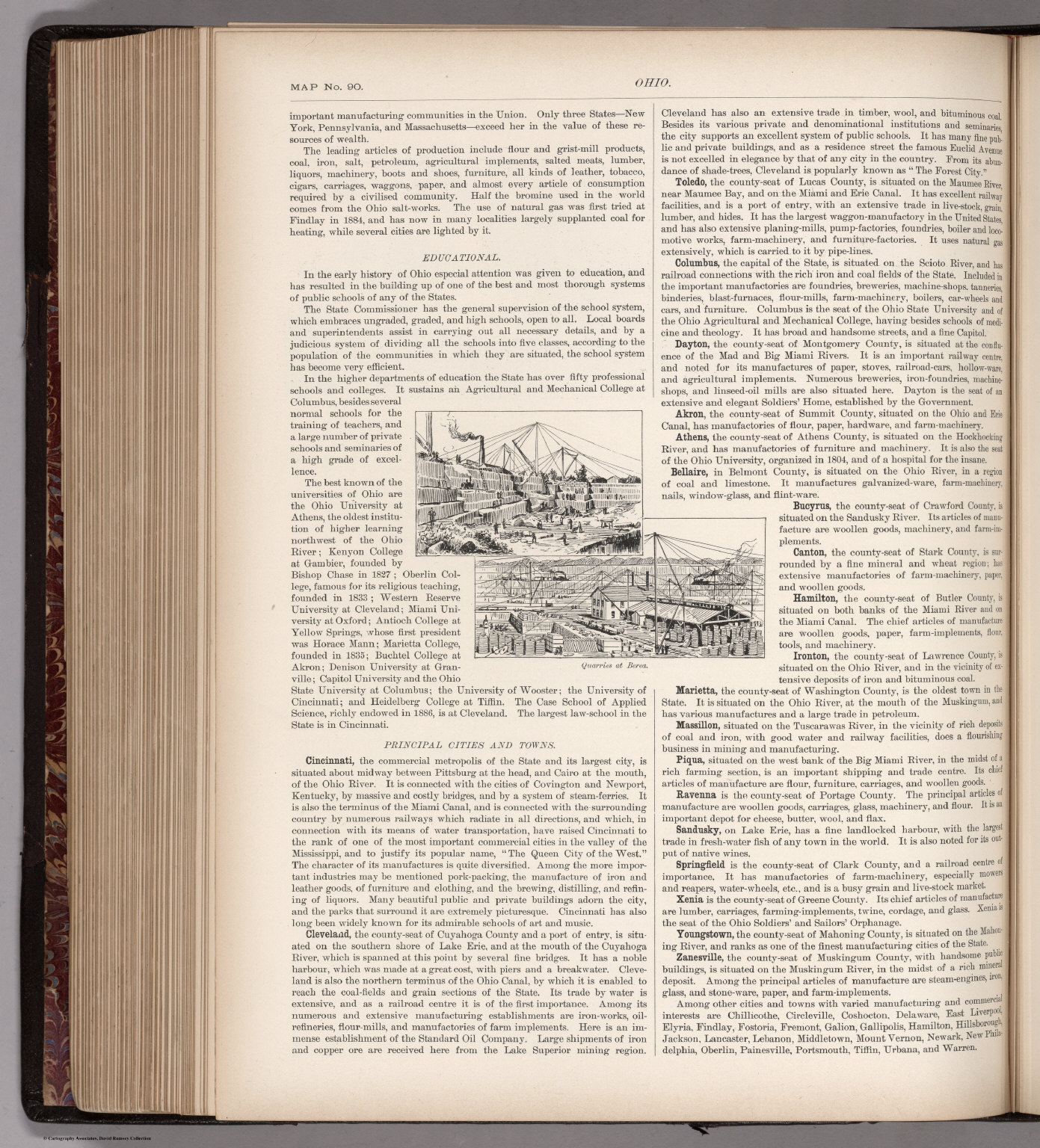 Text Page: (Continues) Ohio. Map No. 90