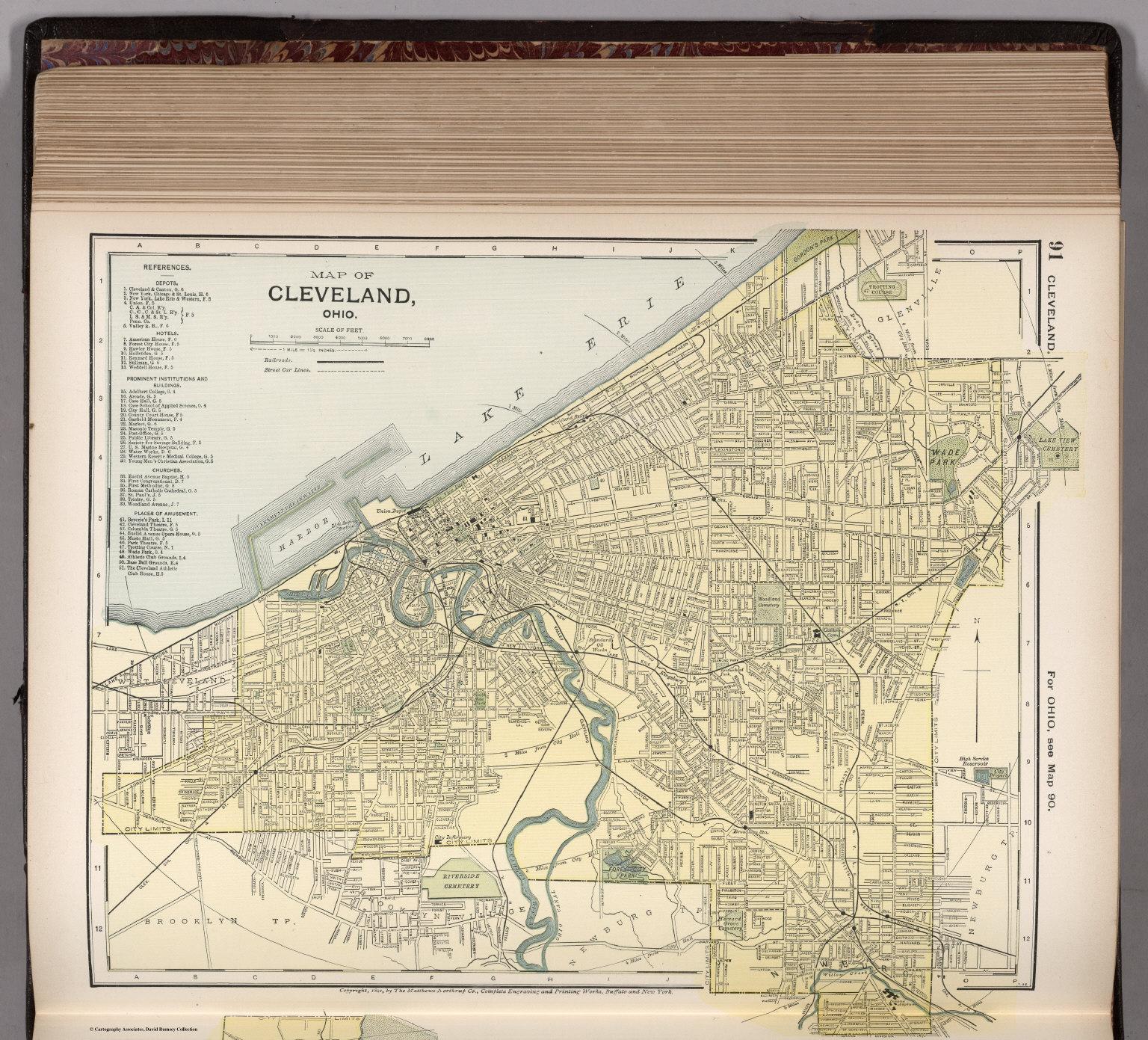 Map of Cleveland, Ohio. 91