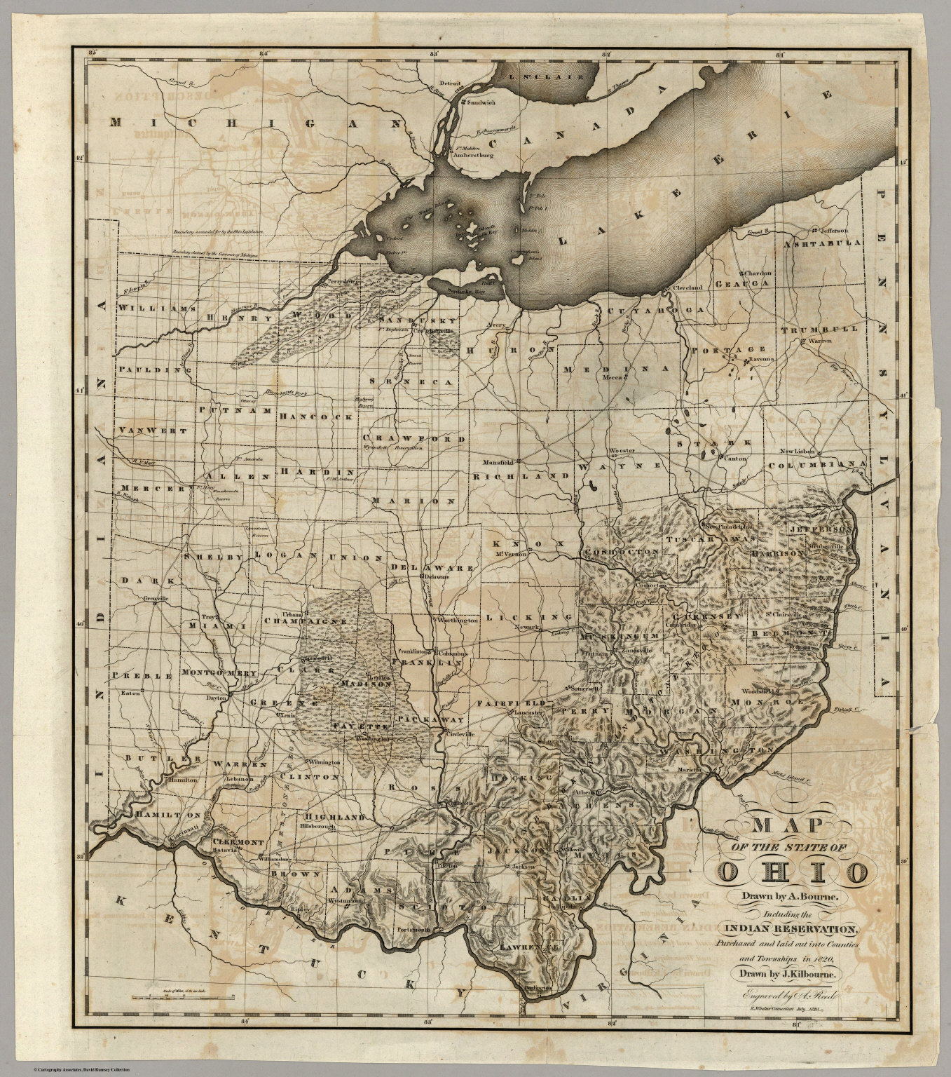 Map Of The State Of Ohio - David Rumsey Historical Map Collection