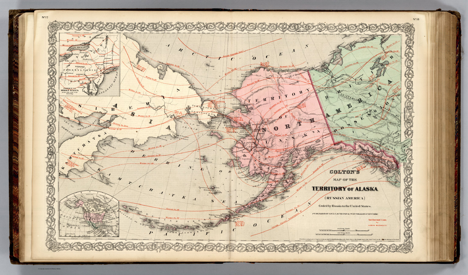 Territory of alaska russian america david rumsey historical map territory of alaska russian america gumiabroncs Image collections
