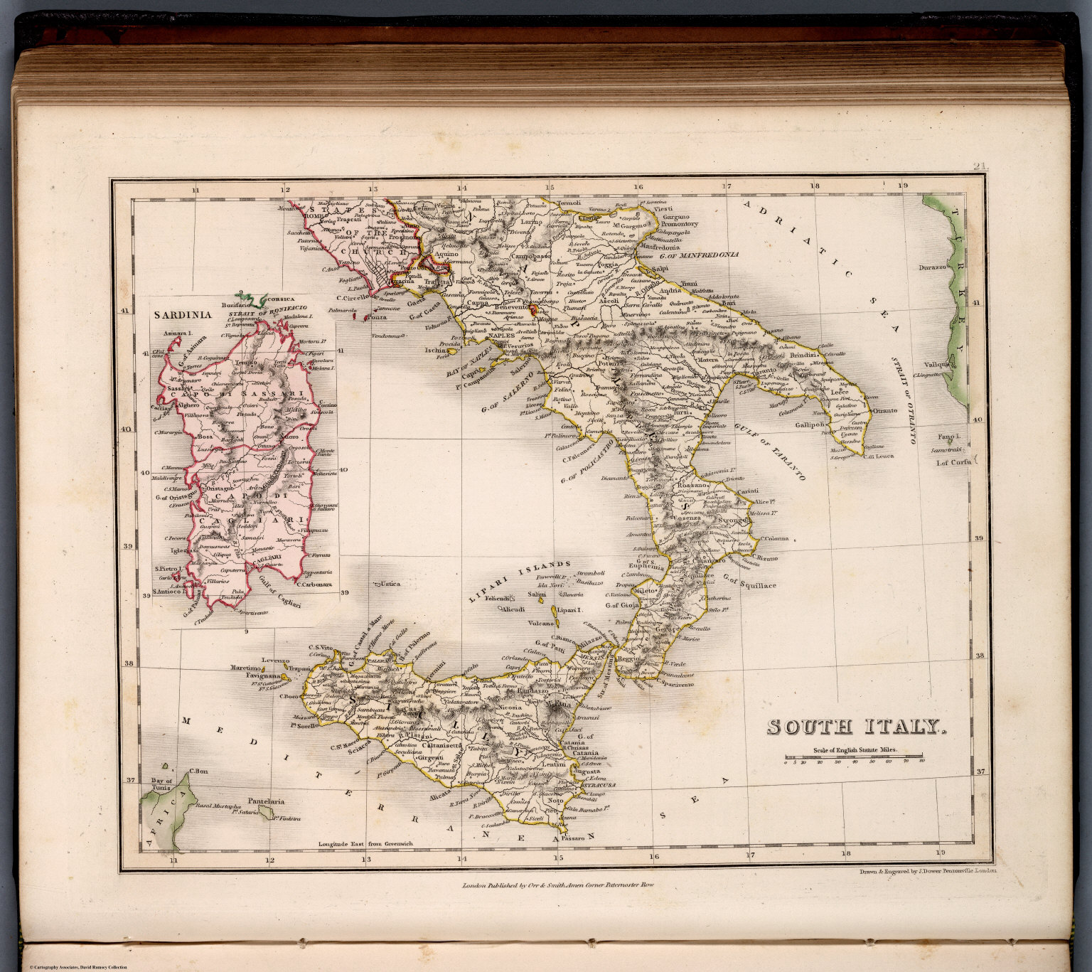 Map Of South Of Italy.South Italy David Rumsey Historical Map Collection