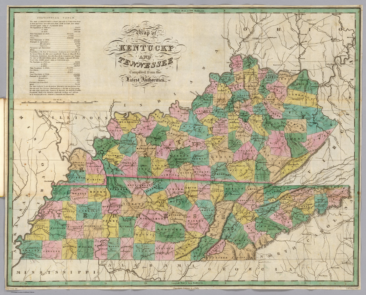 Kentucky Tennessee David Rumsey Historical Map Collection