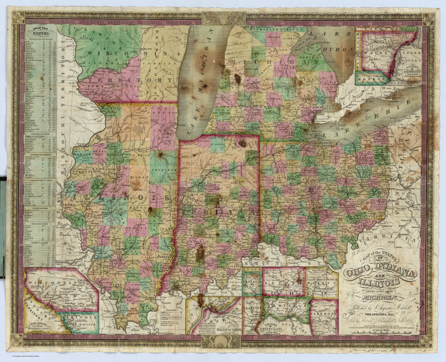 Ohio, Indiana And Illinois - David Rumsey Historical Map Collection