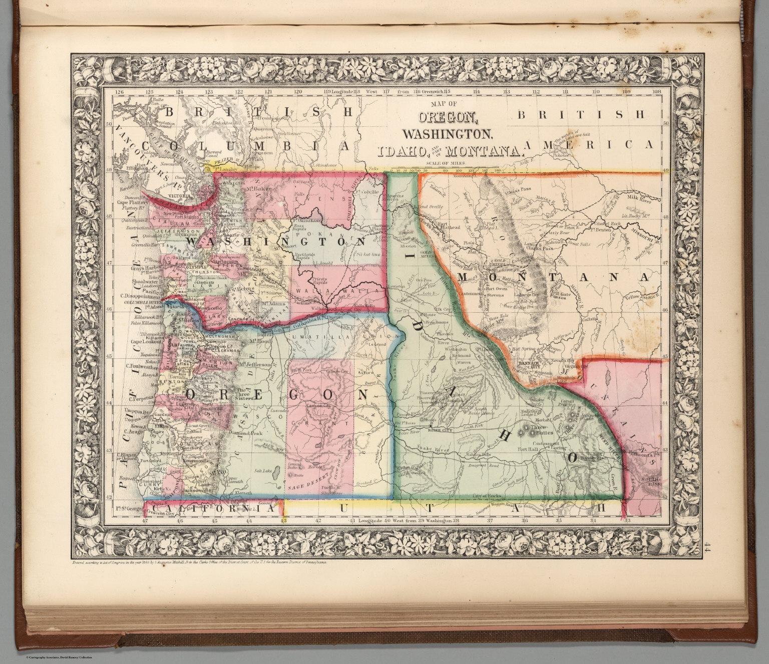 Map Of Oregon Washington Idaho And Part Of Montana David Rumsey