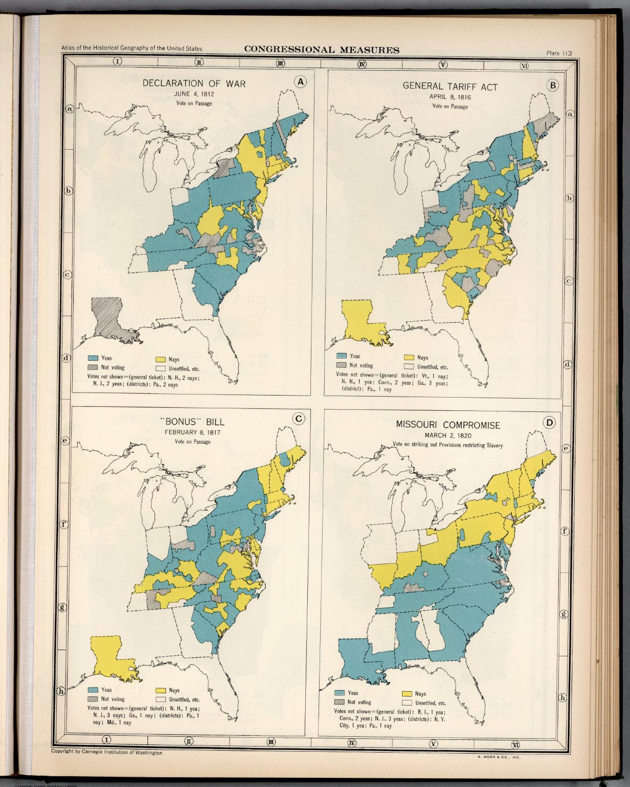 Plate 113  Congressional Measures, 1812 - 1820  - David