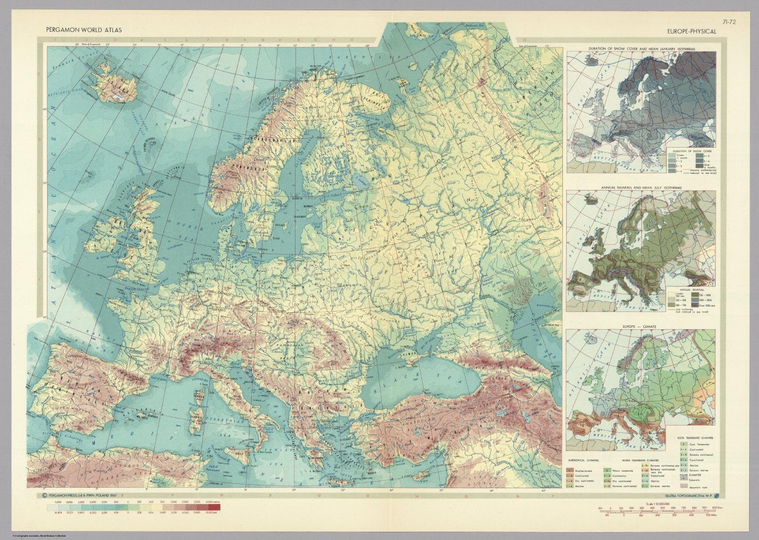 Europe physical pergamon world atlas david rumsey historical pergamon world atlas david rumsey historical map collection gumiabroncs Choice Image