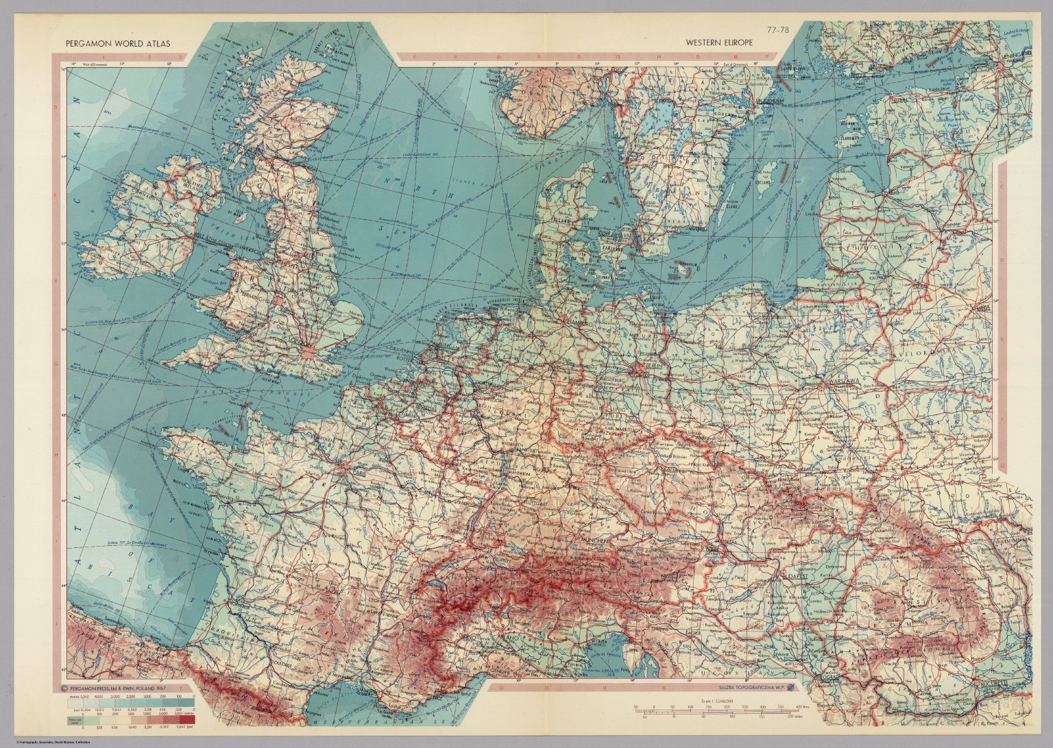 Western Europe. Pergamon World Atlas. - David Rumsey Historical Map ...