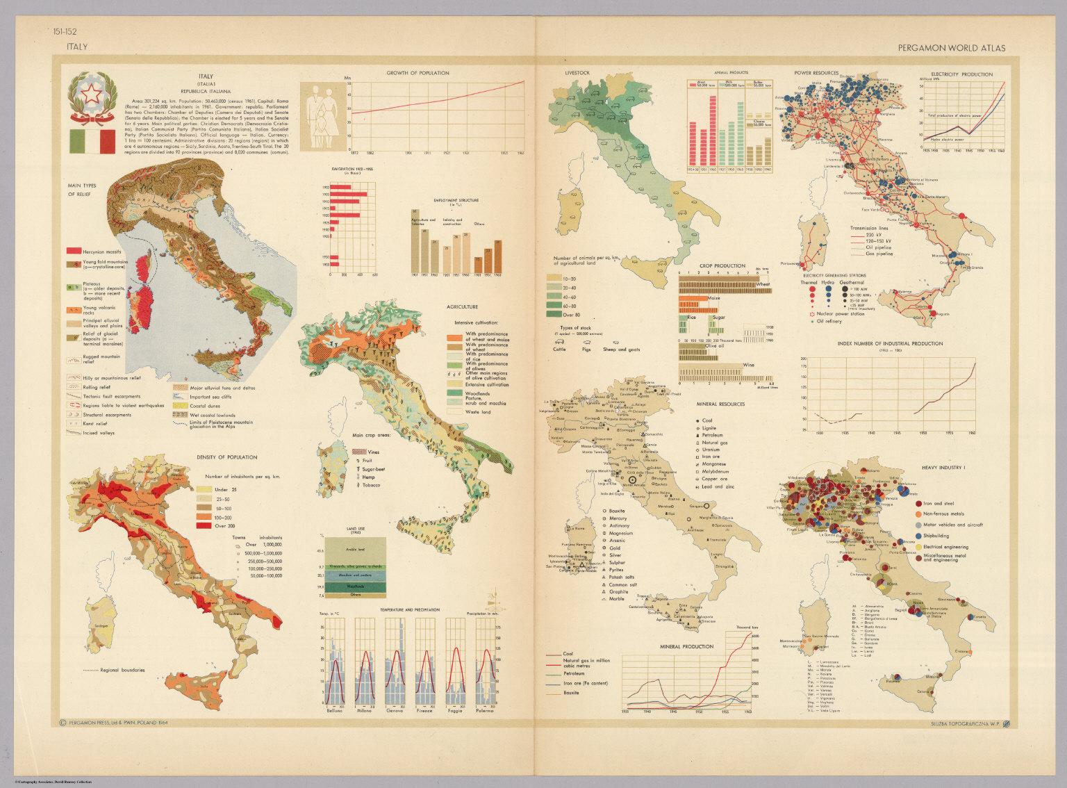 Italy pergamon world atlas david rumsey historical map collection italy pergamon world atlas gumiabroncs Choice Image
