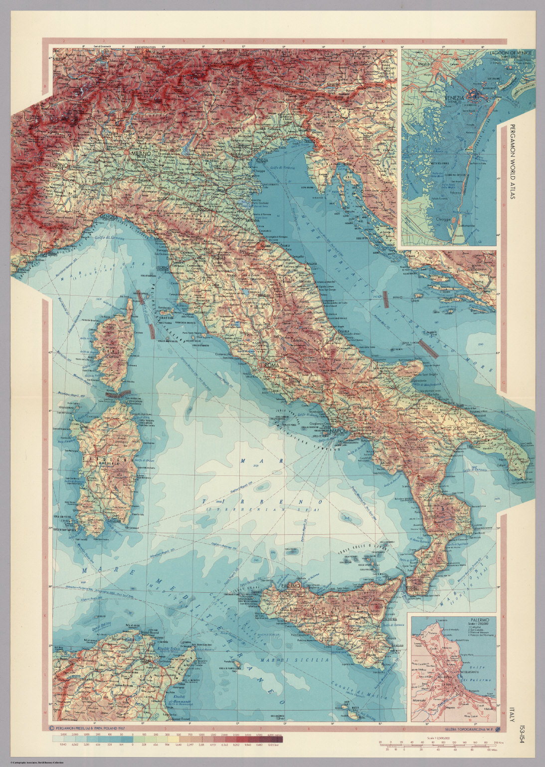 Italy pergamon world atlas david rumsey historical map collection italy pergamon world atlas gumiabroncs Gallery