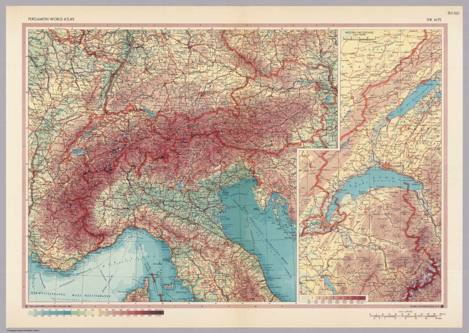 Alps. Pergamon World Atlas. - David Rumsey Historical Map Collection