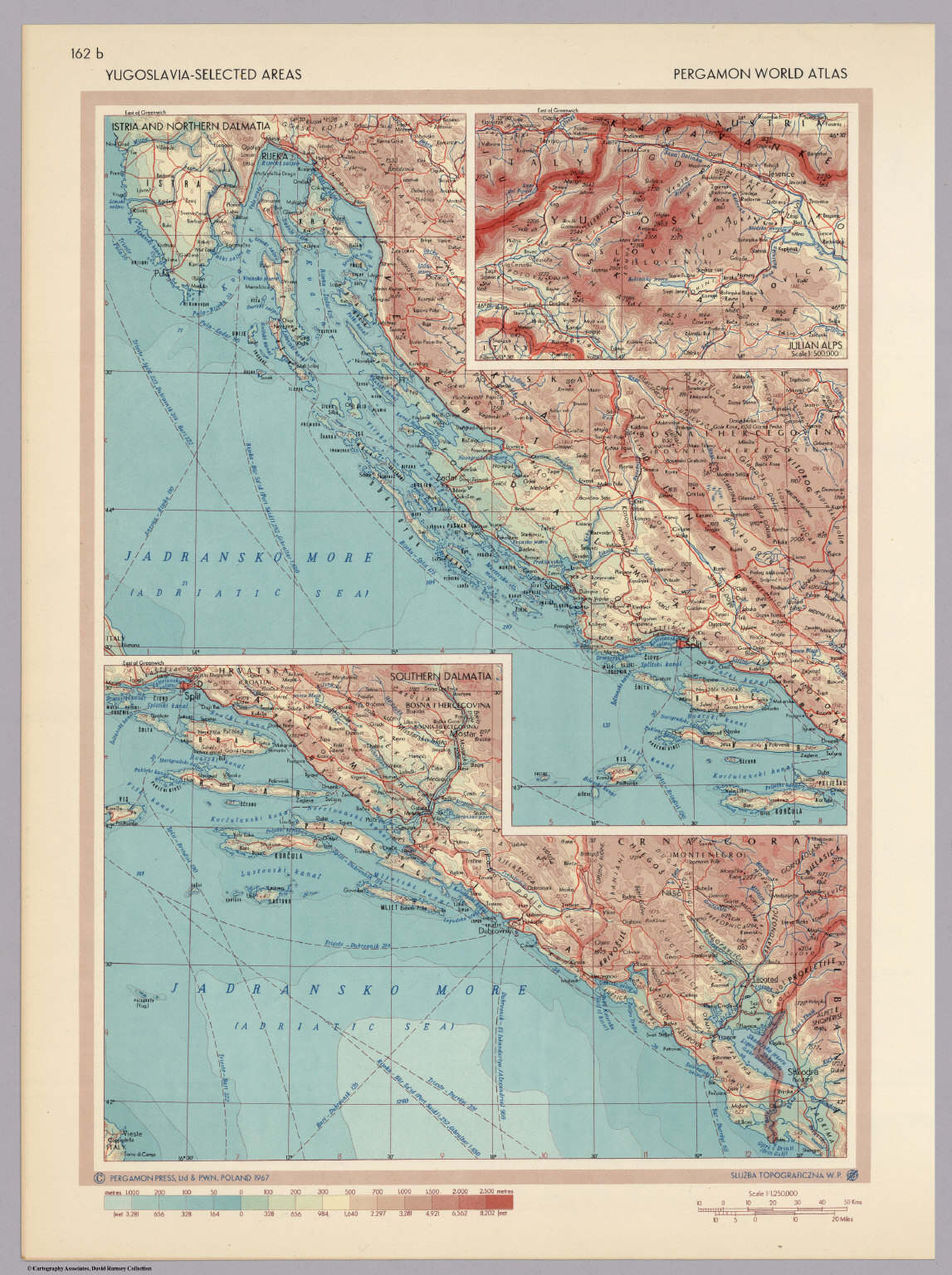 Yugoslavia selected areas pergamon world atlas david rumsey pergamon world atlas gumiabroncs Gallery
