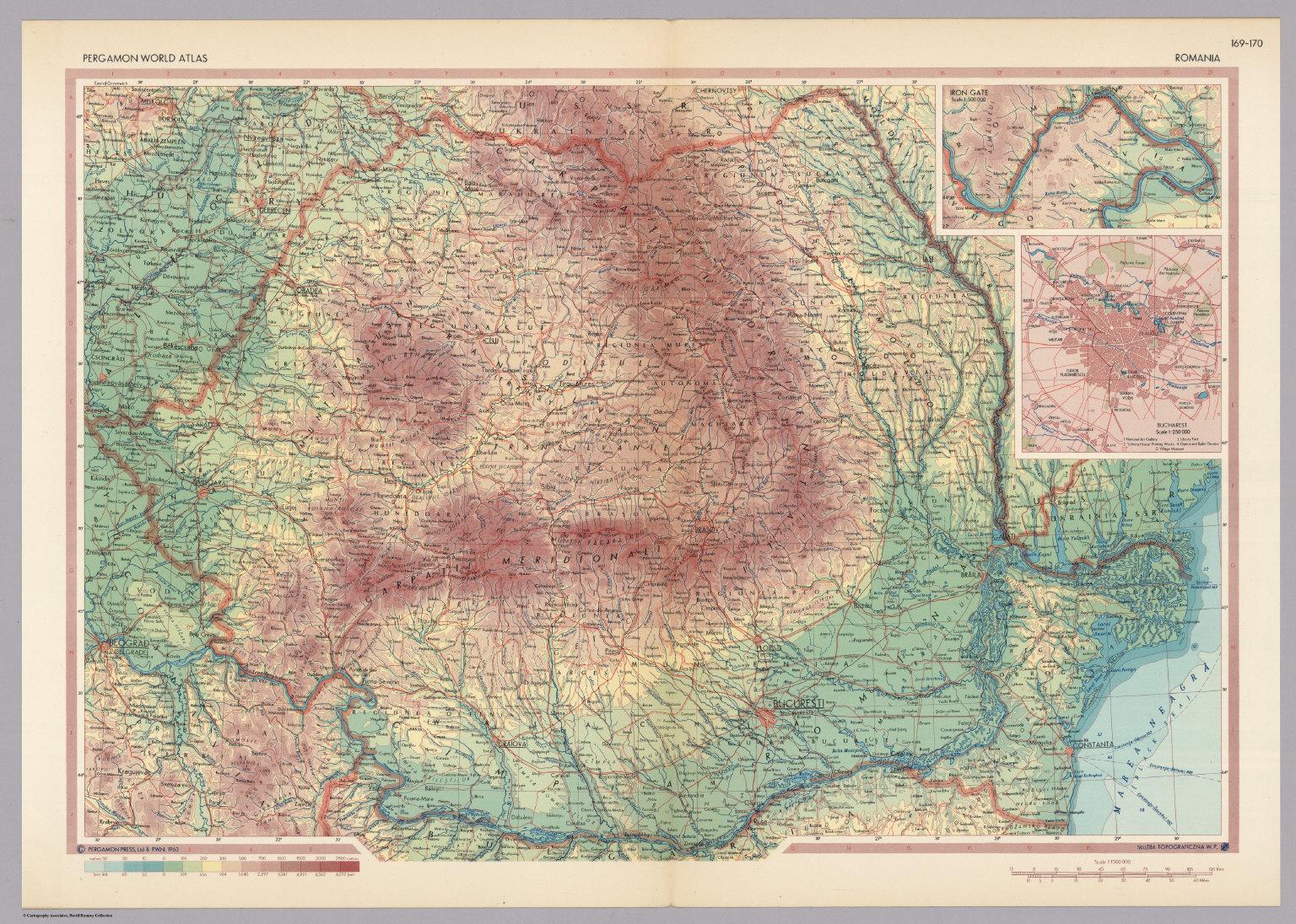 Romania pergamon world atlas david rumsey historical map collection romania pergamon world atlas gumiabroncs Choice Image