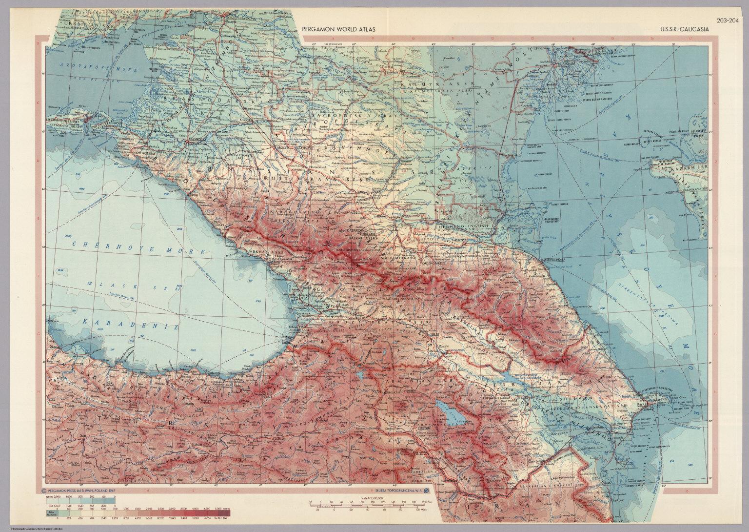 Ussr caucasia pergamon world atlas david rumsey pergamon world atlas gumiabroncs Image collections