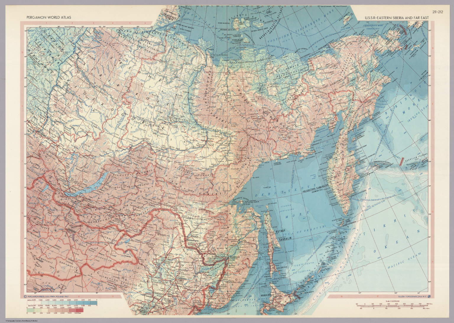 Where Is Siberia On A World Map.U S S R Eastern Siberia And Far East Pergamon World Atlas