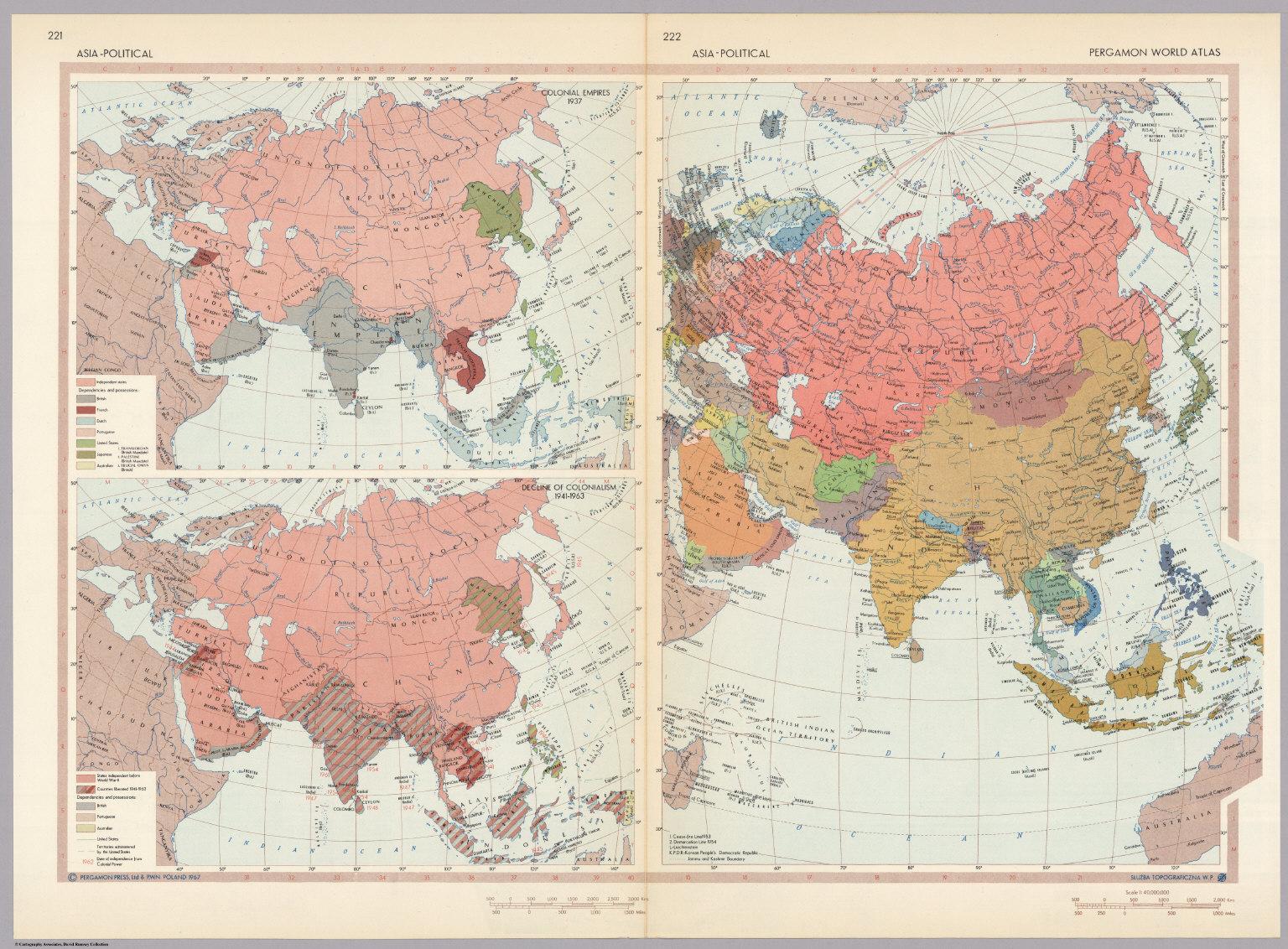Asia political pergamon world atlas david rumsey historical asia political pergamon world atlas gumiabroncs Images