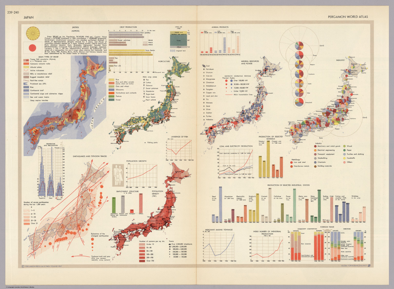 Japan pergamon world atlas david rumsey historical map collection japan pergamon world atlas gumiabroncs Gallery