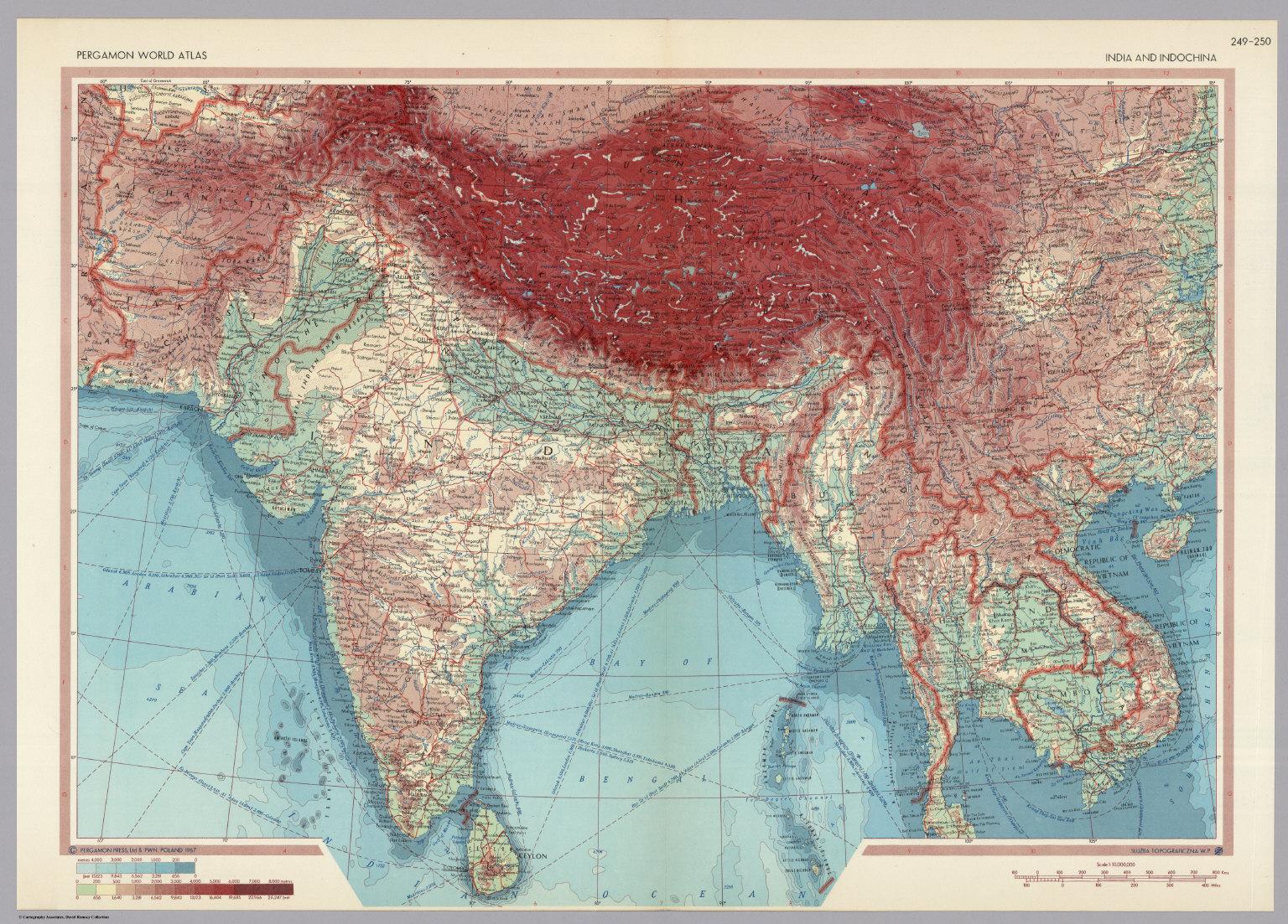India and indochina pergamon world atlas david rumsey historical india and indochina pergamon world atlas gumiabroncs Image collections