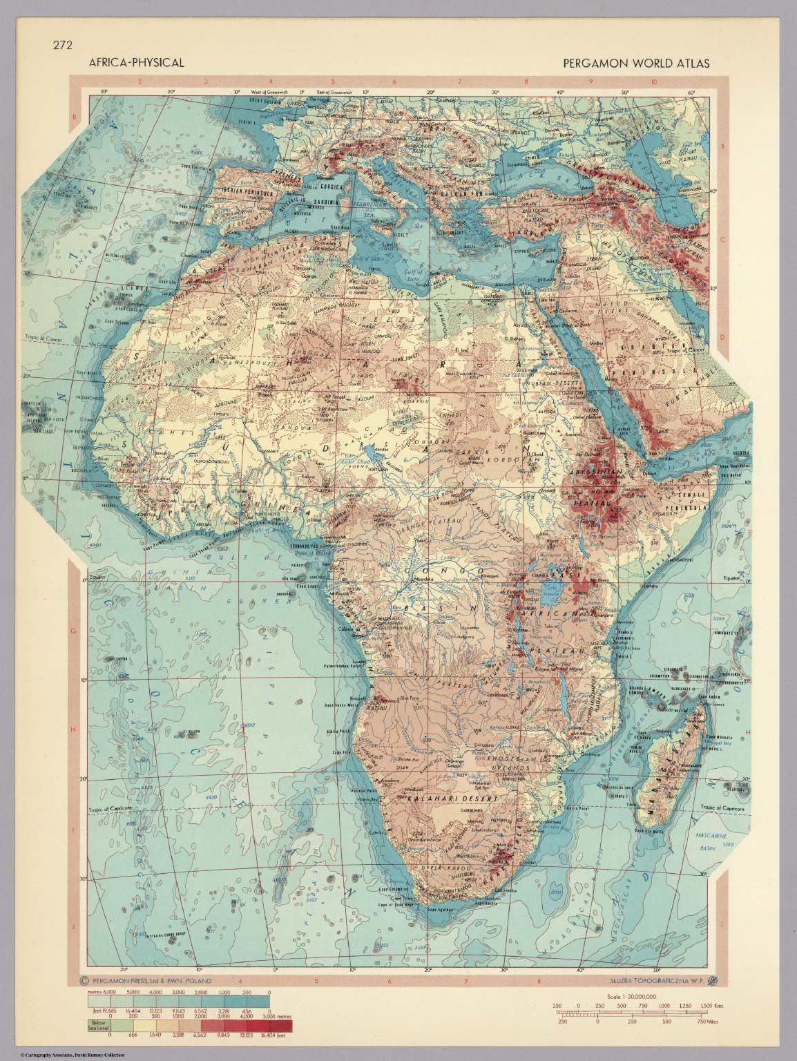 Africa physical pergamon world atlas david rumsey historical africa physical pergamon world atlas gumiabroncs Image collections
