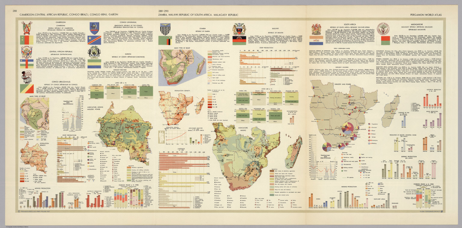 Central and southern africa pergamon world atlas david rumsey central and southern africa pergamon world atlas gumiabroncs Choice Image
