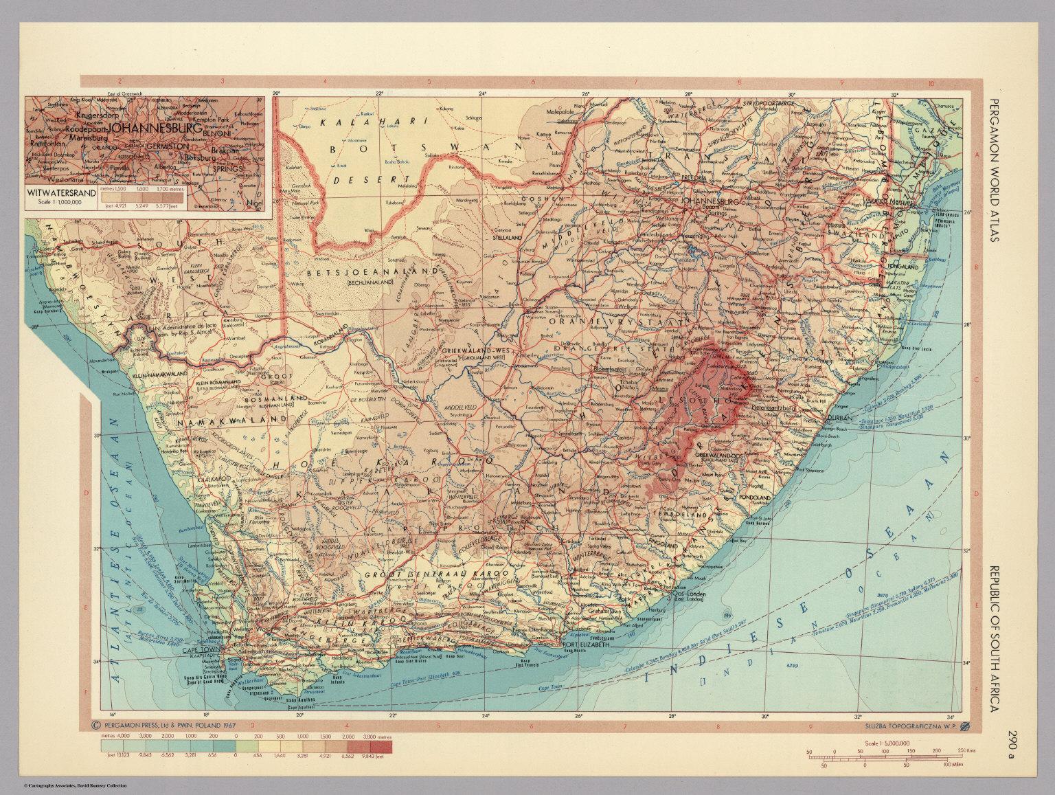 Republic of south africa pergamon world atlas david rumsey republic of south africa pergamon world atlas gumiabroncs Images