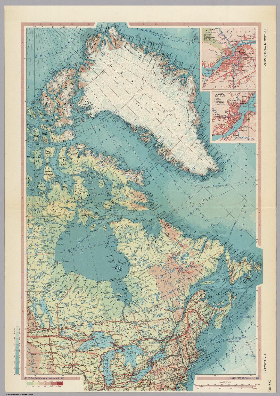 Canada east pergamon world atlas david rumsey historical map pergamon world atlas gumiabroncs Images