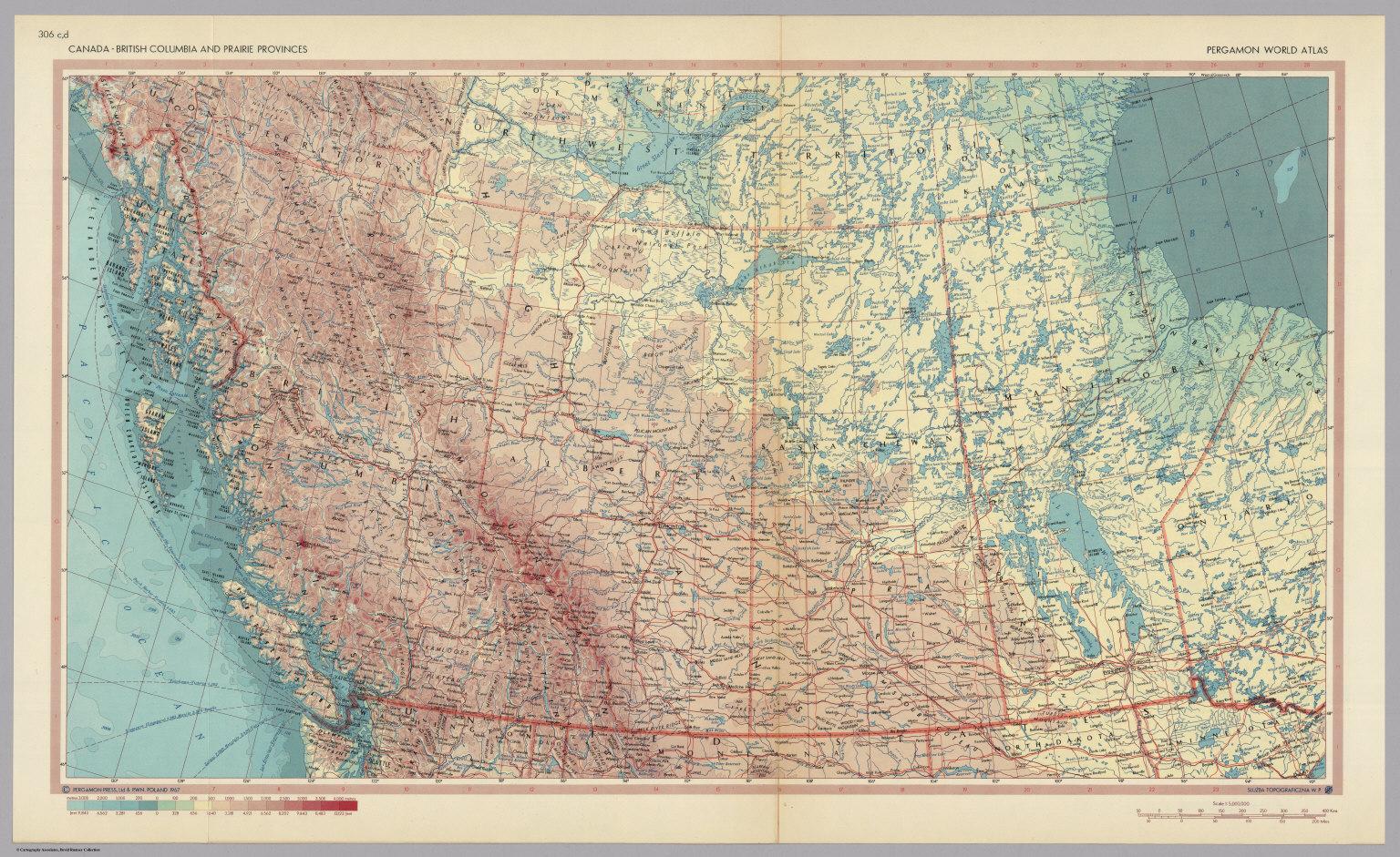 Canada british columbia and prairie provinces pergamon world canada british columbia and prairie provinces pergamon world atlas gumiabroncs Gallery