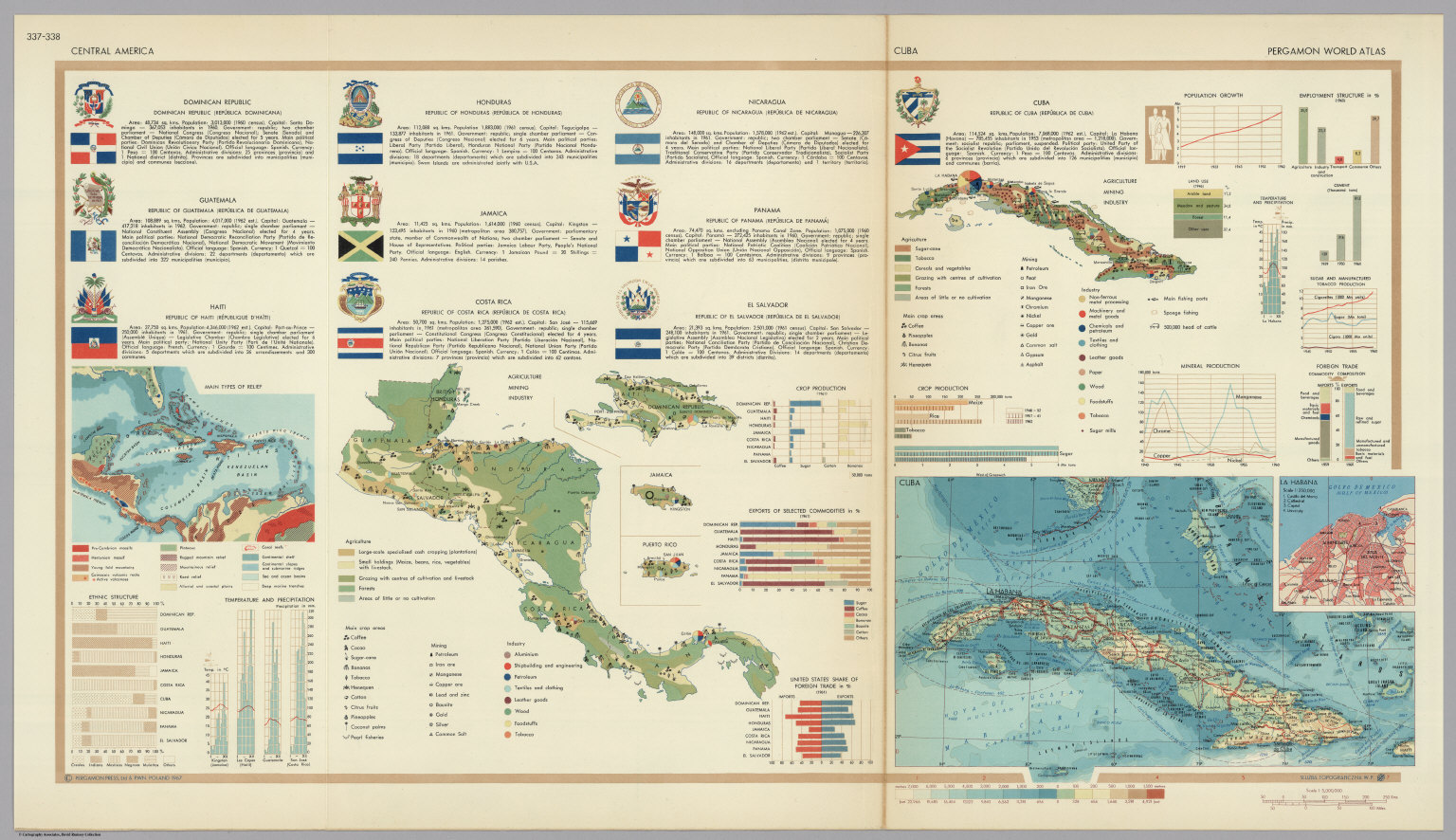 Central america cuba pergamon world atlas david rumsey pergamon world atlas gumiabroncs Image collections