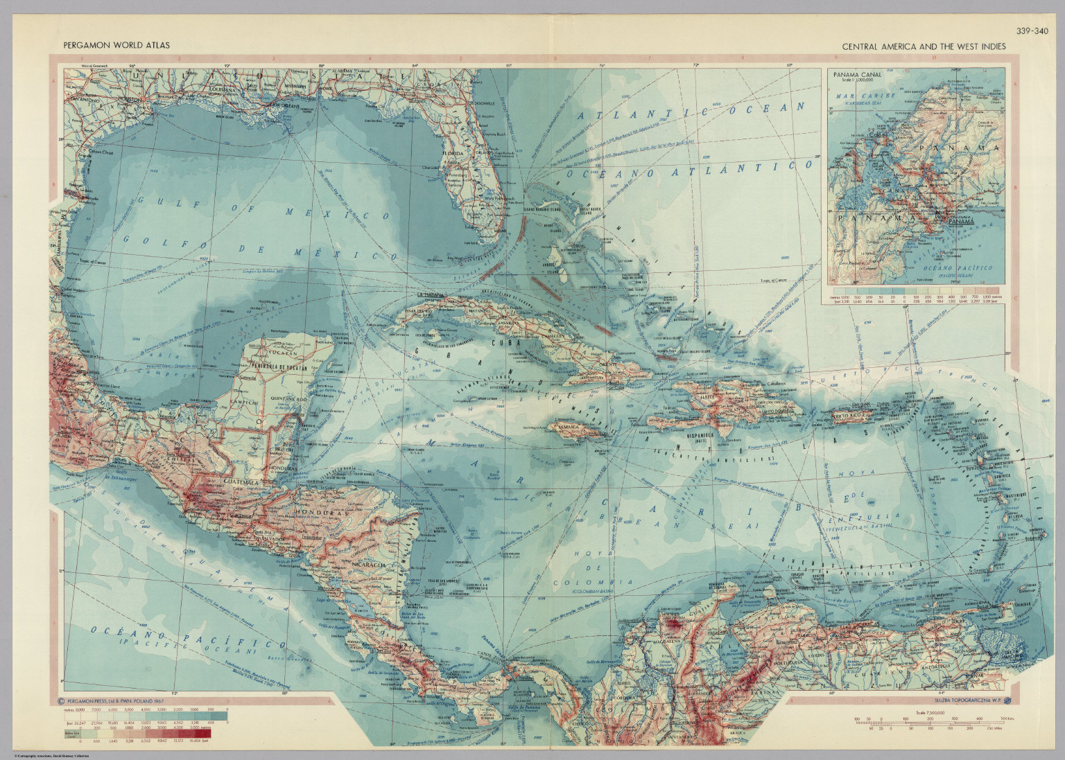 Central america and the west indies pergamon world atlas david central america and the west indies pergamon world atlas gumiabroncs Images