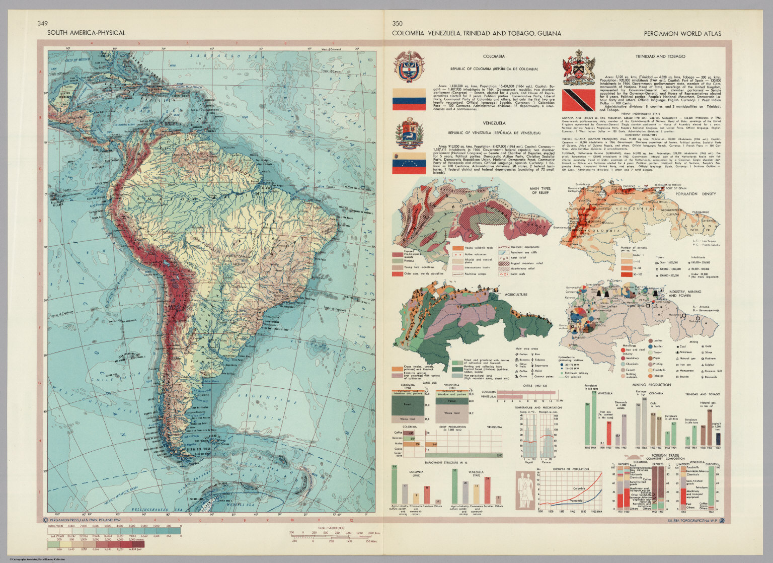 South america physical colombia venezuela trinidad and tobago south america physical colombia venezuela trinidad and tobago guiana pergamon world gumiabroncs Image collections