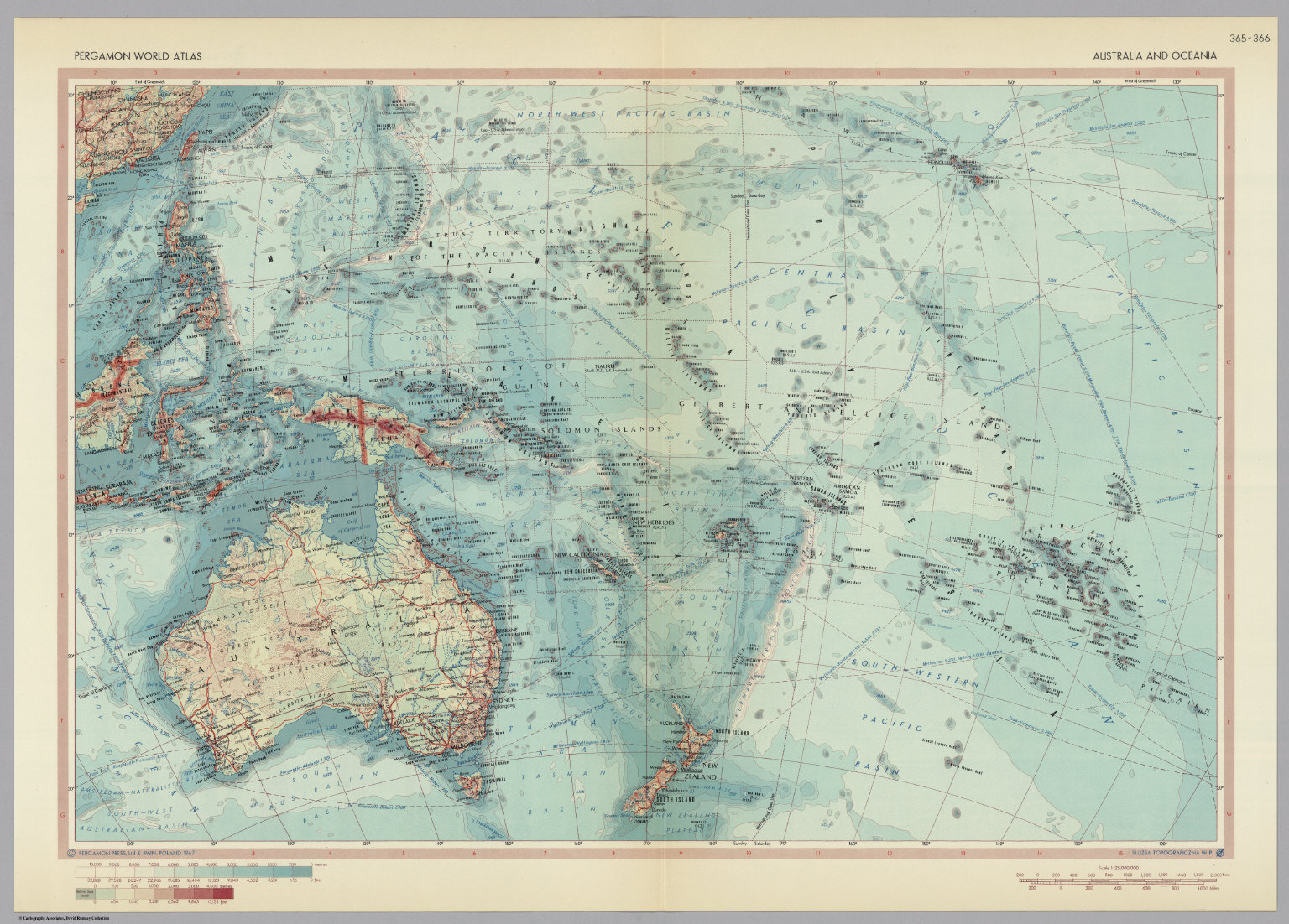 Australia and oceania pergamon world atlas david rumsey australia and oceania pergamon world atlas freerunsca Image collections