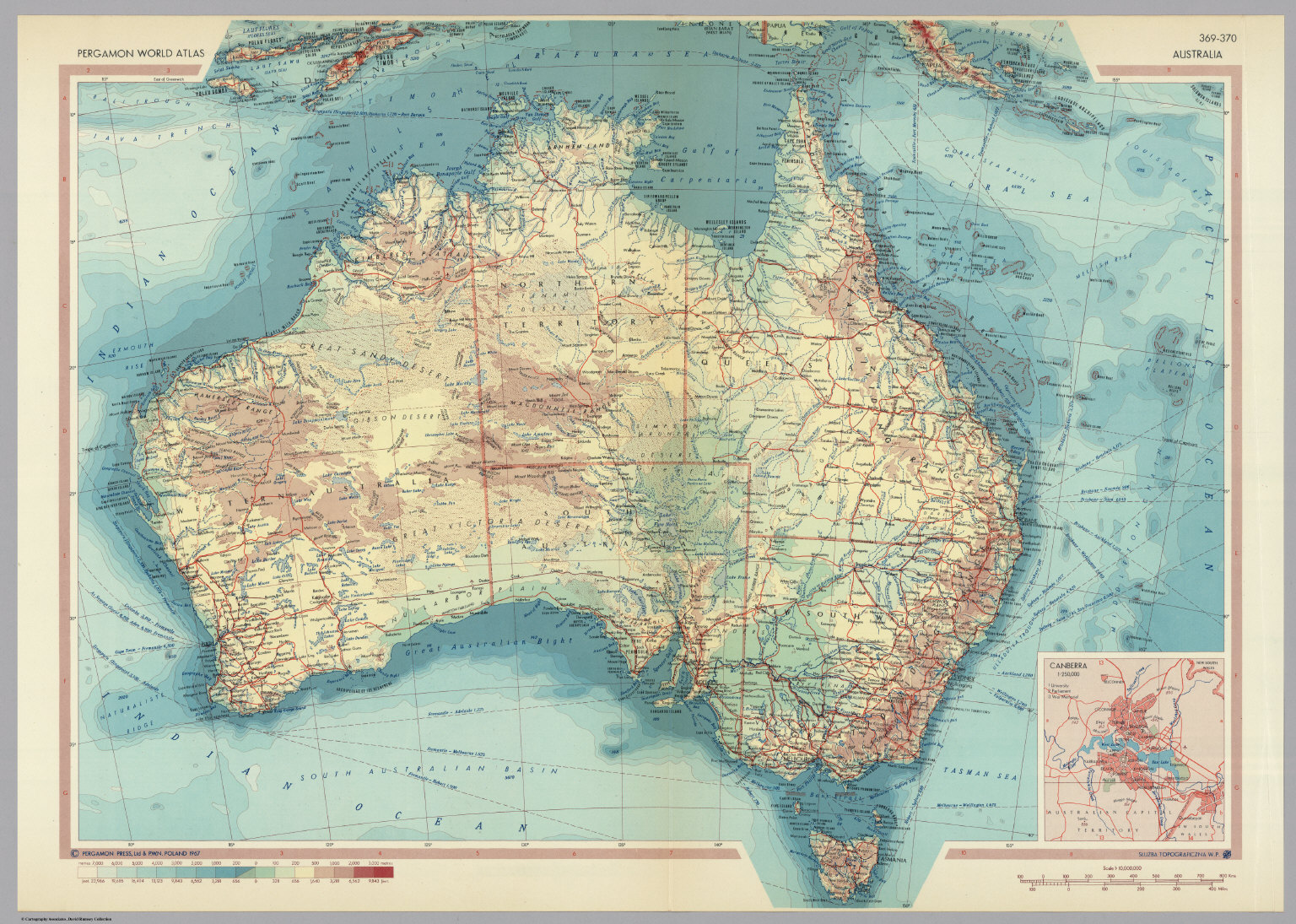 Buy Map Of Australia.Australia Pergamon World Atlas David Rumsey Historical Map