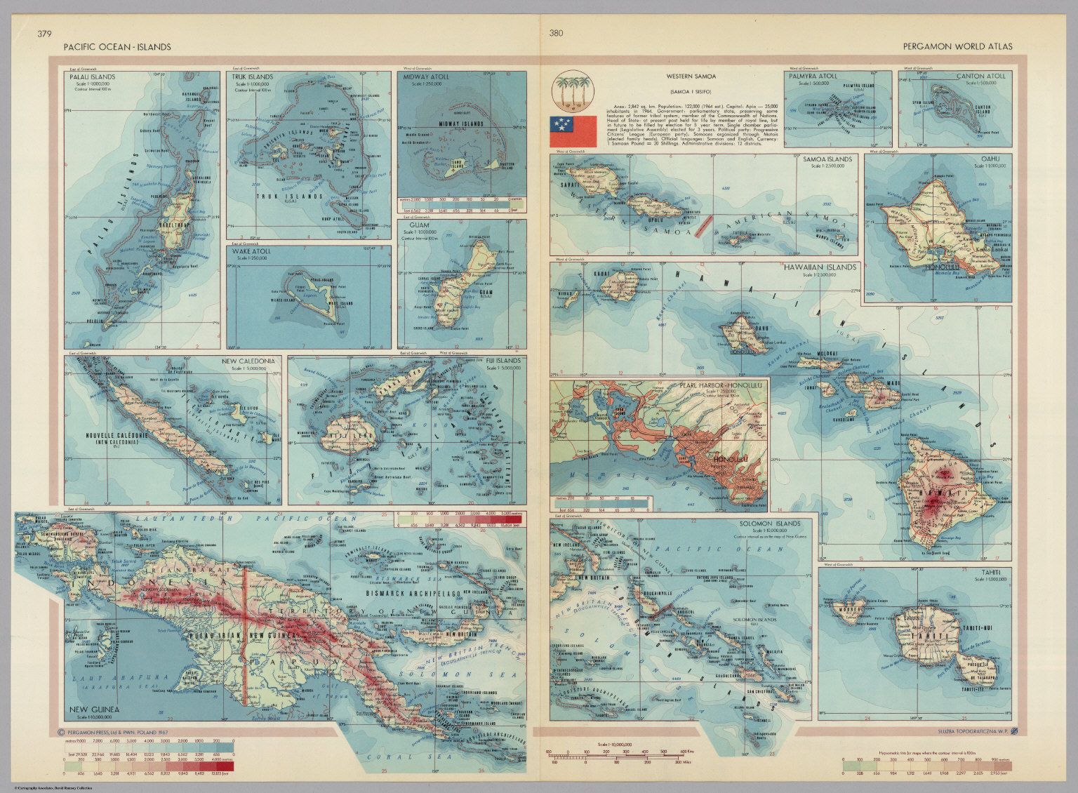 Pacific ocean islands pergamon world atlas david rumsey pacific ocean islands pergamon world atlas gumiabroncs Image collections