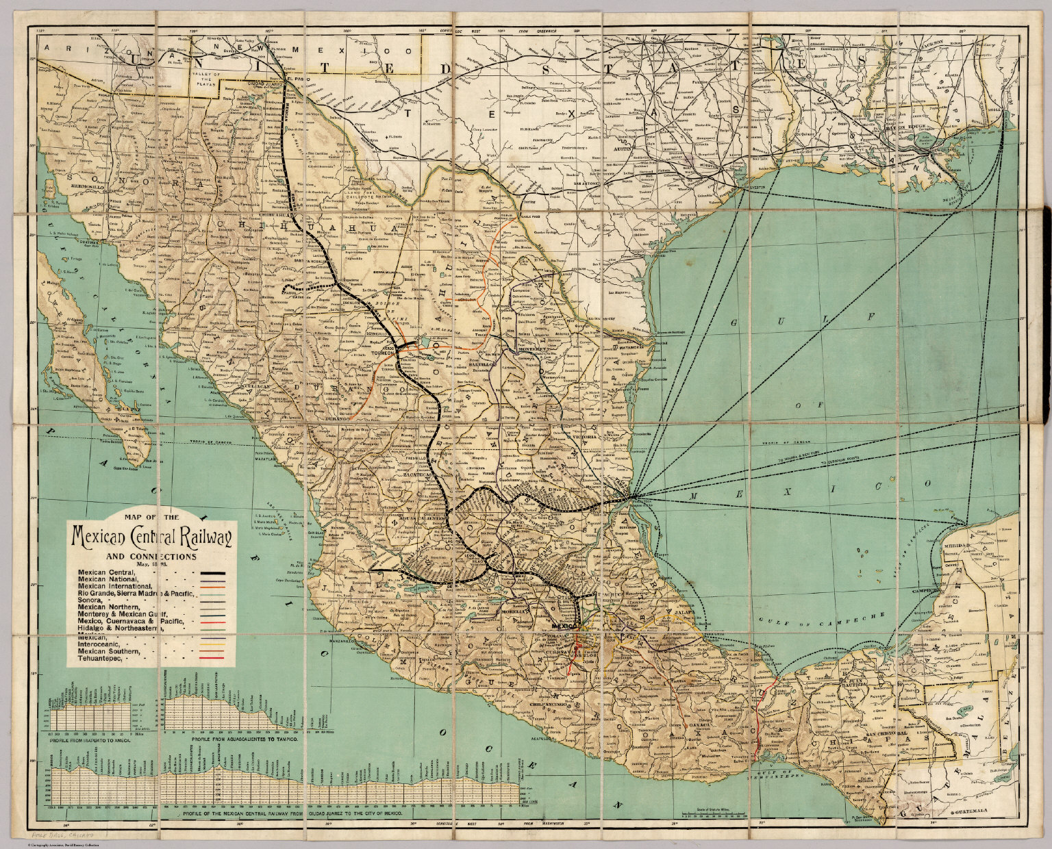 Frontispiece Mexican Central Railway David Rumsey Historical Map