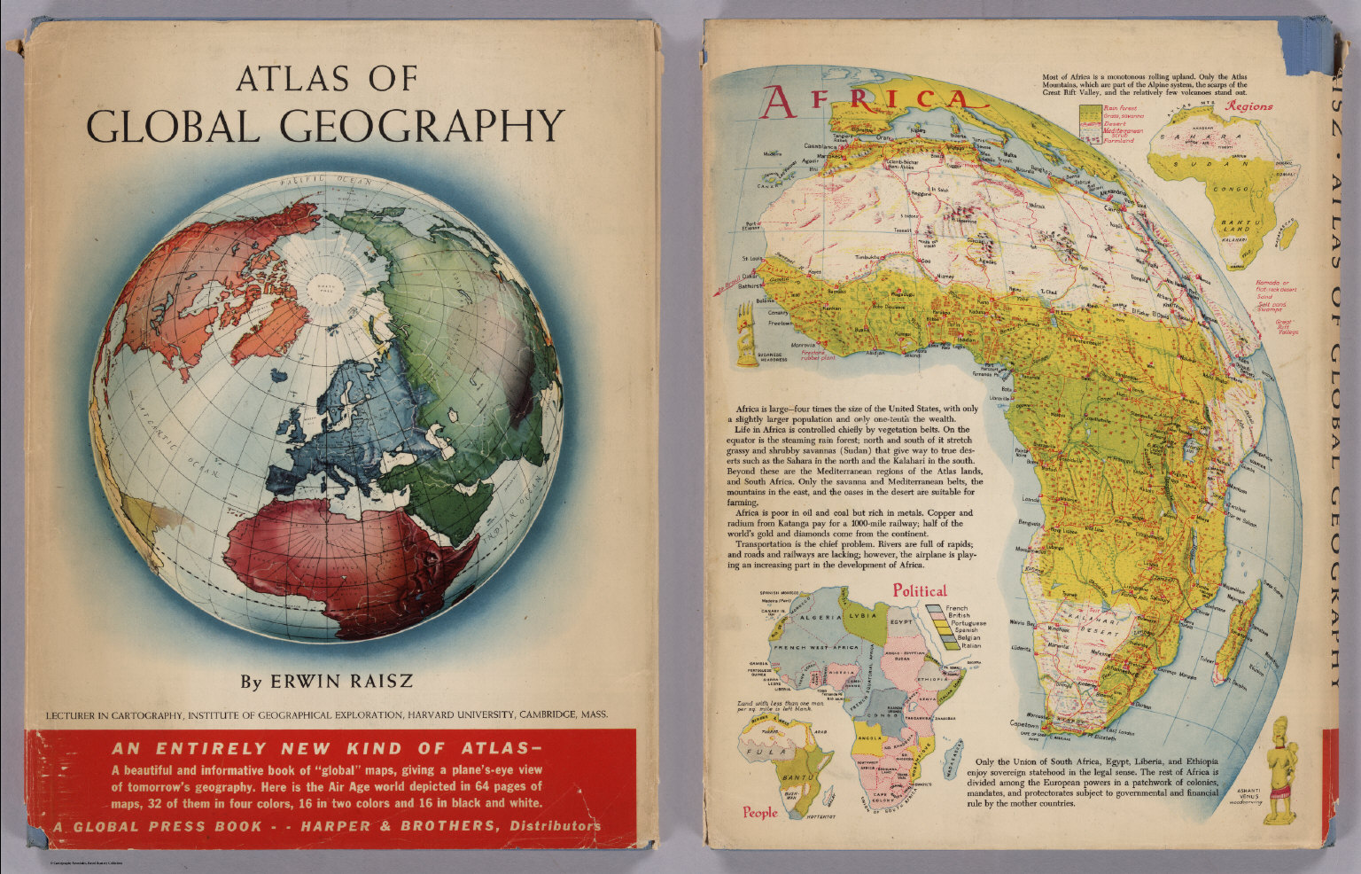 Covers atlas of global geography david rumsey historical map covers atlas of global geography gumiabroncs Image collections