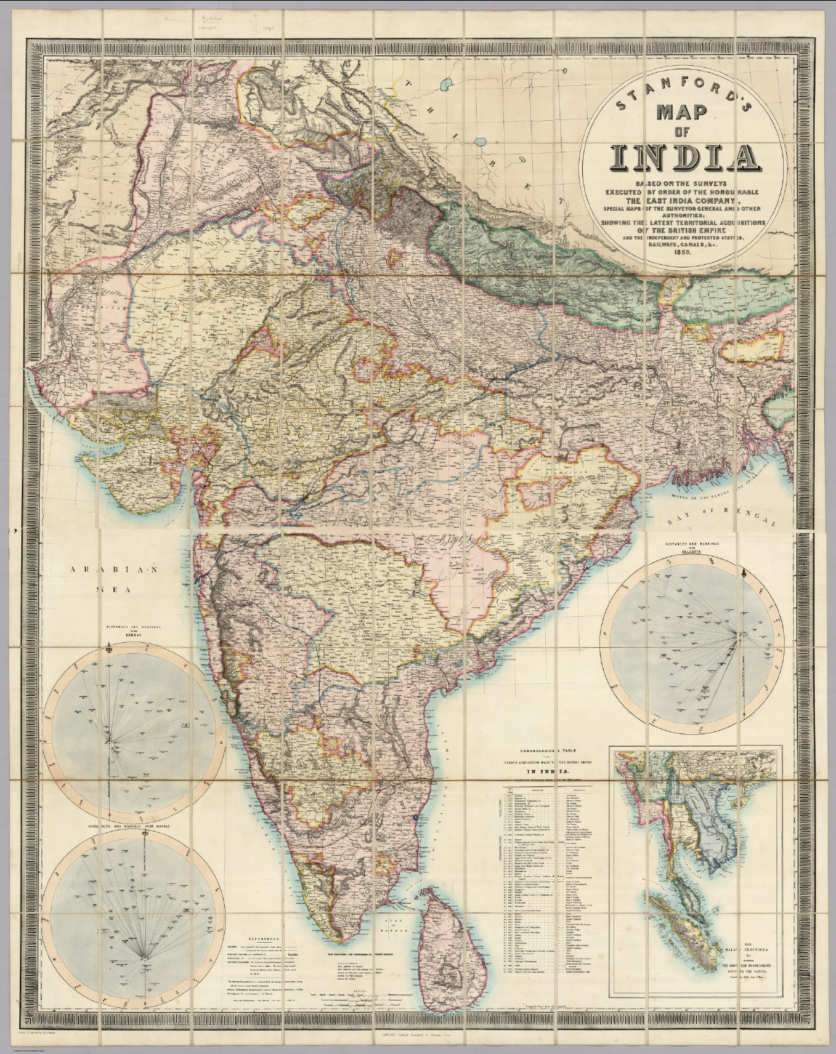 Latest India Map.Stanford S Map Of India David Rumsey Historical Map Collection