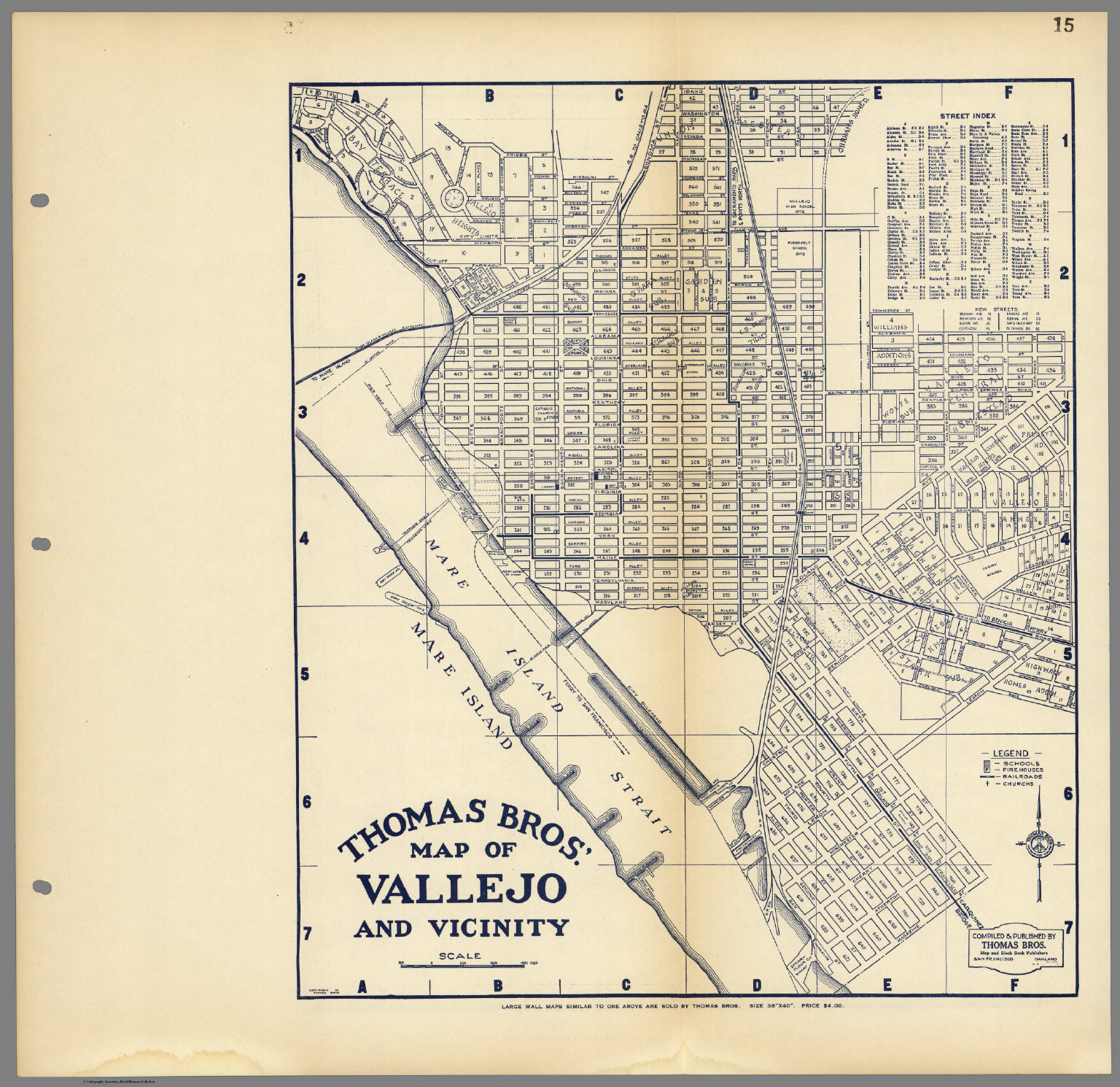 Thomas Bros Map of Vallejo and Vicinity California David
